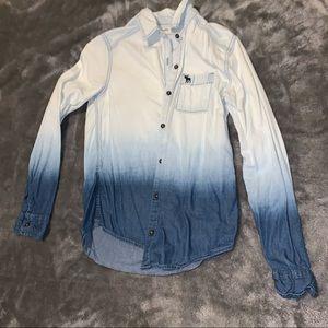 Abercrombie kids ombré denim shirt